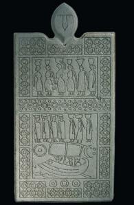 Пано с изображения гравирани върху мрамор и гранит