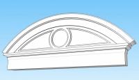 Фронтони от стиропор с овална форма