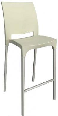 Бар стол с облегалка в бежово