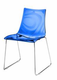 Дизайнерски стол син
