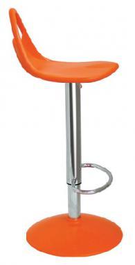 Бар стол с амортисьор в оранжево