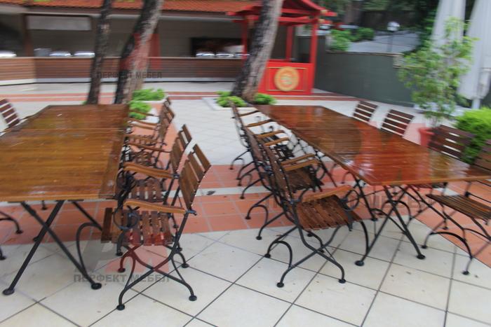 дървени столове за ресторанти за външна употреба