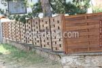 високи огради дървени