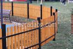 ограда от дърво с подсилващ метален профил