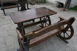 по поръчка битова маса с една пейка и 1 стол