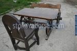 битови дървени маси с една пейка и 1 стол за заведения