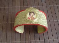 Авторска  ръчно декорирана гривна Sophistication
