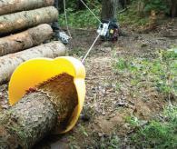 Лебедка за теглене на дърва