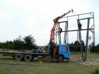 Изграждане на конструкция за билборд