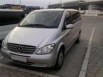 Извършване на трансфер с Mercedes Viano до летище София