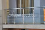 изработка на парапети от инокс и стъкло