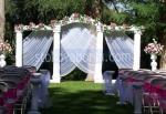украса с цветя за сватба