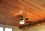 Дървен окачен таван