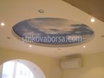 поръчков кръгъл окачен таван от гипсокартон