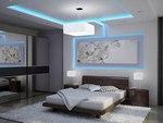 окачен таван от гипсокартон с LED осветление