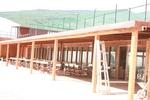 фирма за дървени навеси за спортни игрища по поръчка