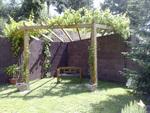 пергола за градината от дърво