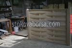 дървена ограда по поръчка от дървено пано 200x100см.
