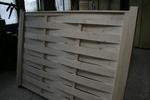 изграждане на дървени огради от чам с дървени пана 200x100см