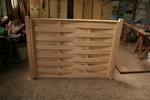 дървени огради от чам с оградни пана 200x100см
