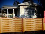 дървена ограда по поръчка от дървено пано 200x125см.
