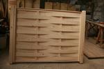 дървени огради от чам боядисани с безцветен лак