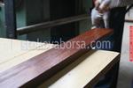 дървени огради от оградни пана боядисани с боя по RAL каталог