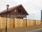 дървени огради от дървени пана 200x200см.