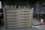 изграждане на дървени огради от чам без лаково боядисване