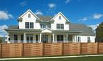 дървени огради от оградни пана с цветен лак