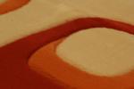 Машинни килими Мода релефни в бежево-кафявата, оранжевата, червената и зелената гама