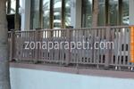 дървен парапет от бук за тераса