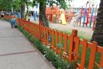 дървени огради за детски площадки