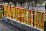 цветни дървени огради за обществена градинка