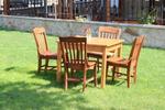 изработка на лукс маса със столове от масив