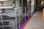 производство на парапети от инокс и декоративно стъкло